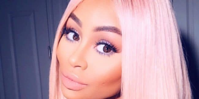 Black Chyna poses in a blonde wig for the Gram