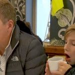 Todd and Grayson Chrisley enjoying a meal in London on Chrisley Knows Best