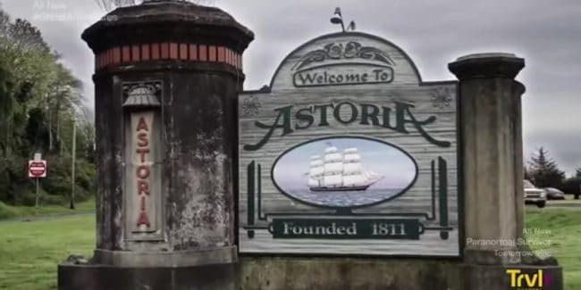 A photo of the Astoria, Oregon sign