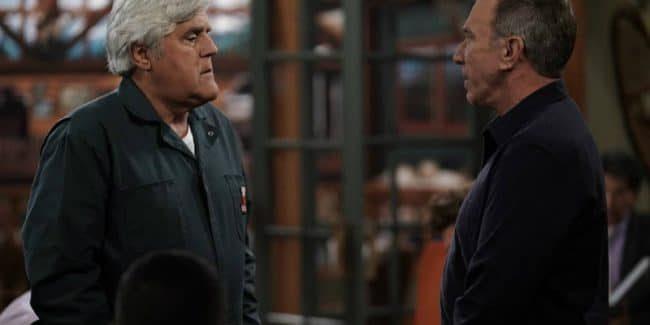 Jay Leno guest stars as Joe alongside Tim Allen's Mike on Last Man Standing