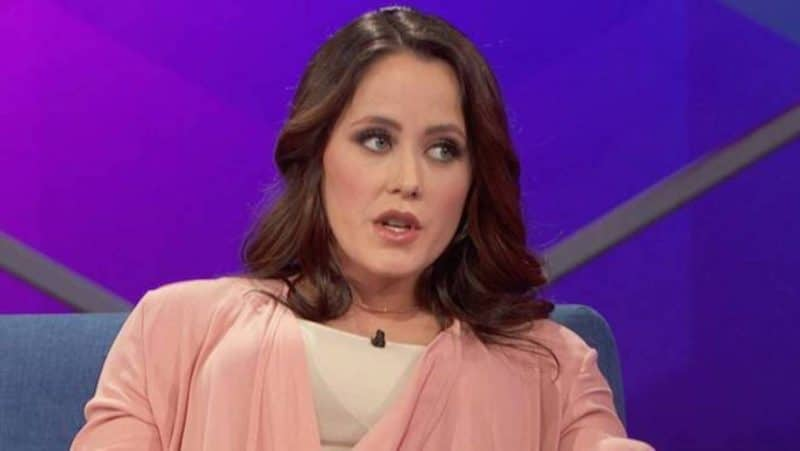 Jenelle Evans at a Teen Mom 2 reunion taping