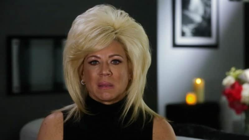 Theresa Caputo in a confessional from Long Island Medium