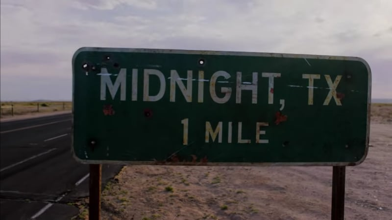 The Midnight, Texas sign from the hit NBC series