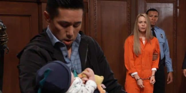 Parry Shen and Chloe Lanier as Brad and Nelle on General Hospital