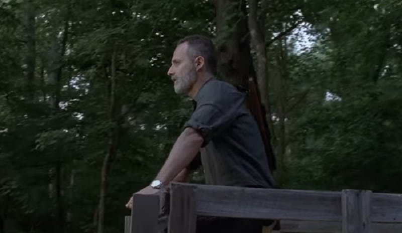Rick Grimes during October 14 episode of The Walking Dead