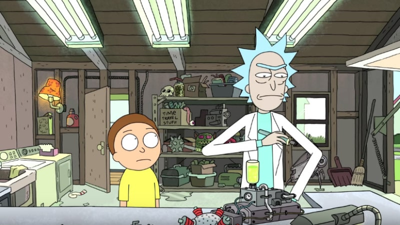 Rick Sanchez and his grandson