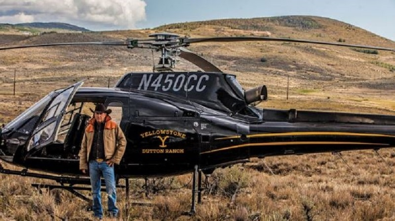 The Dutton Ranch helicopter
