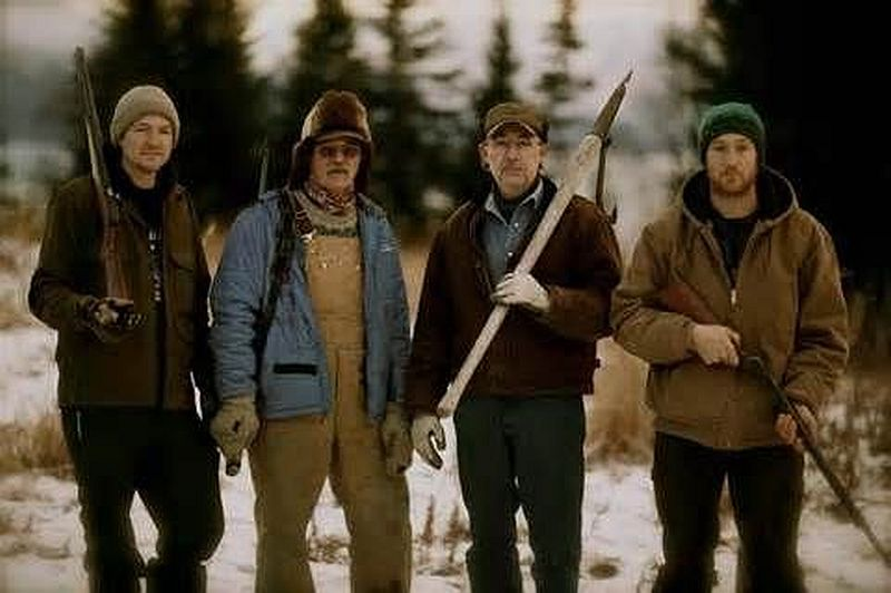 Atz Lee, Atz, Otto and Eivin from Alaska the Last Frontier. Pic credit: Discovery