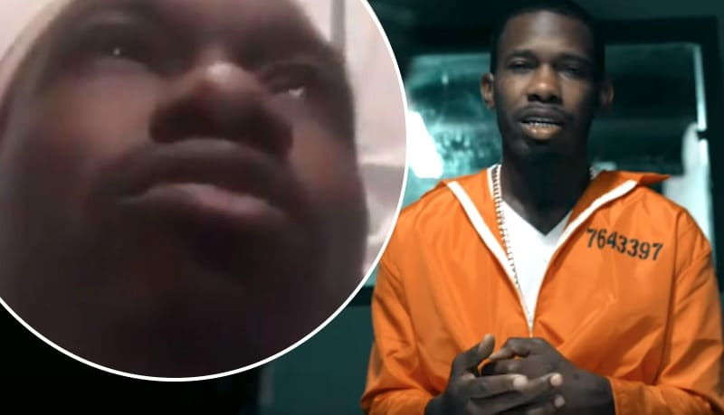 Koly P in Locked Up video and after being shot