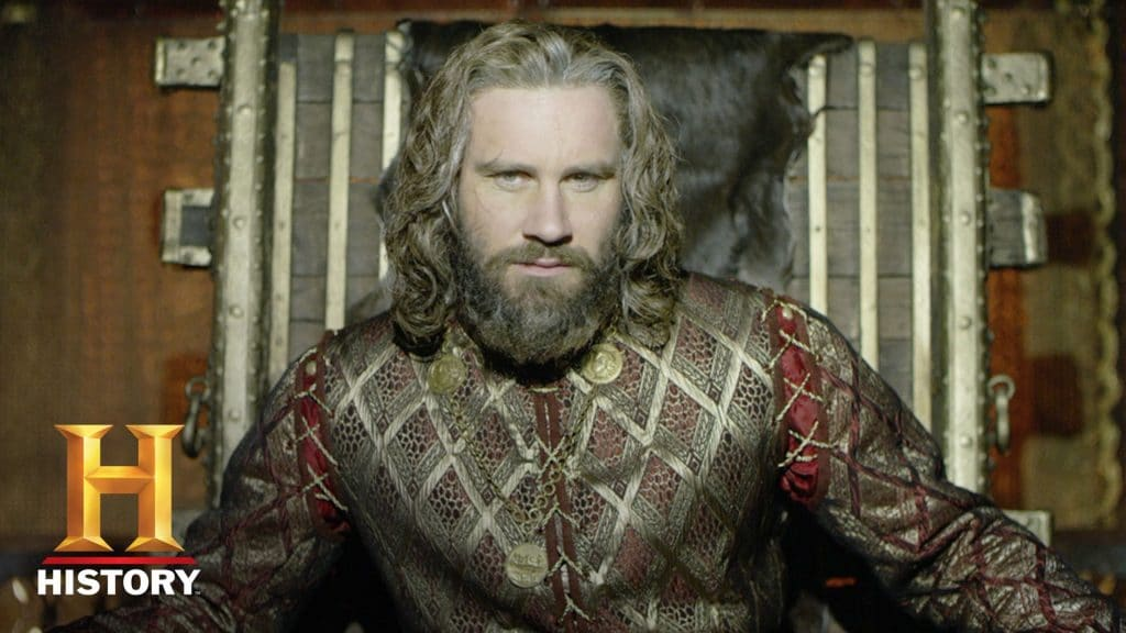 Rollo is a wealthy Frankish royal but his Viking roots run deep still. Pic credit: History