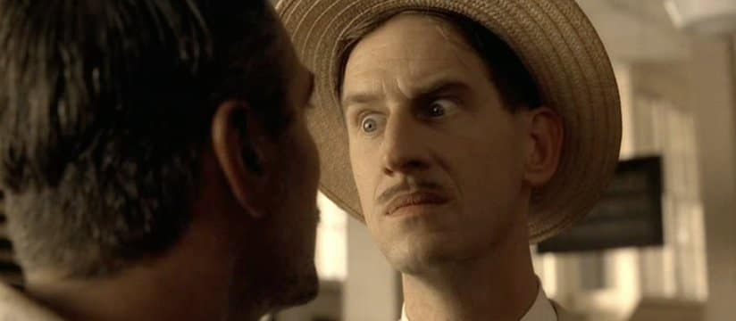 A still from O Brother, Where Art Thou? shows Ray as the irate fiance Vernon Pic credit: YouTube