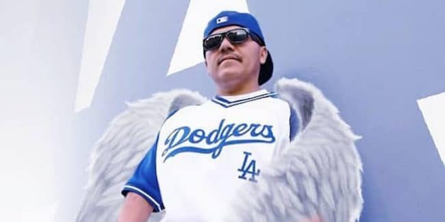 Toker from Brownside with angel wings, in an image posted after his death