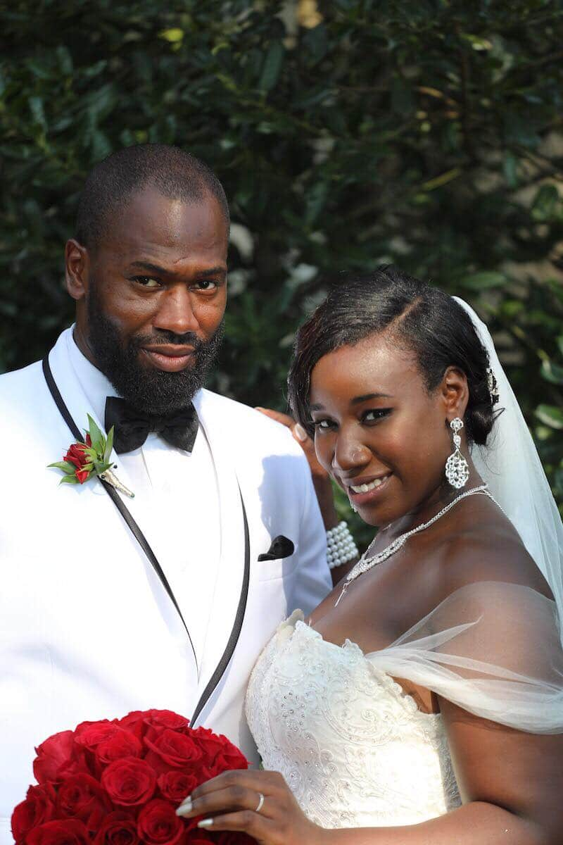 Will Guess and Jasmine McGriff on their MAFS wedding day. Pic credit: Terrance Harrison