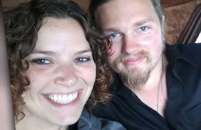 Noah and Rhain Brown, who is pregnant