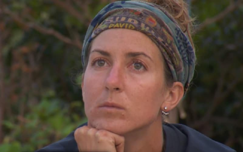 Castaway Alison during a new episode of Survivor