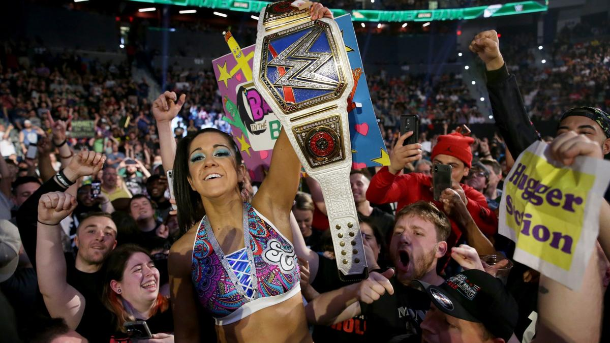 Bayley as WWE SmackDown womens champion