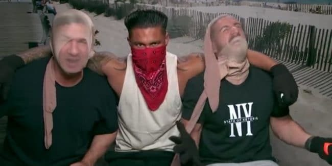 Mike Sorrentino, Pauly D and Vinny Guadagnino disguise themselves for a 'kidnapping'