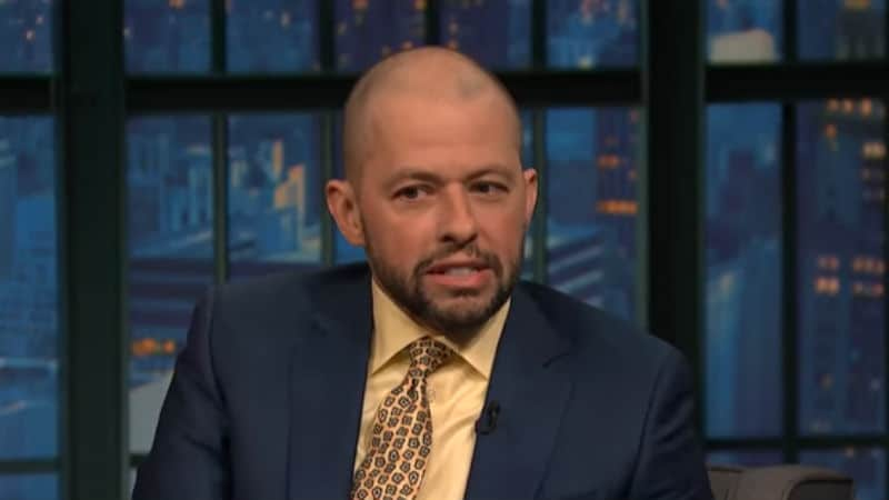 Jon Cryer on Late Night with Seth Meyers in 2015