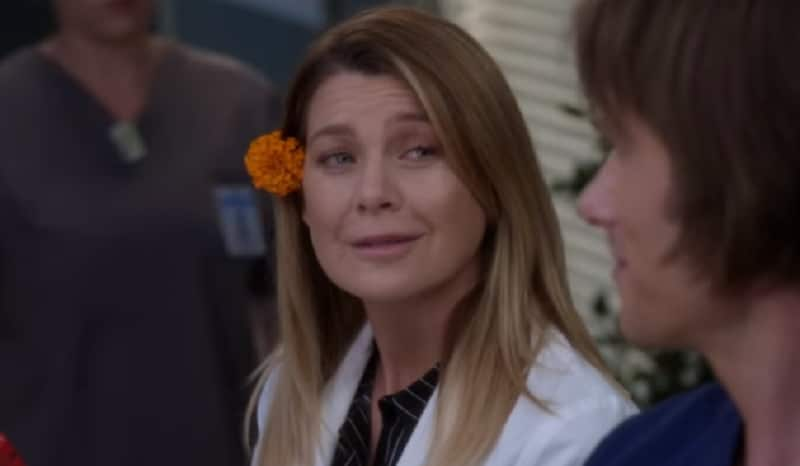 Ellen Pompeo as Dr. Meredith Grey on Grey's Anatomy