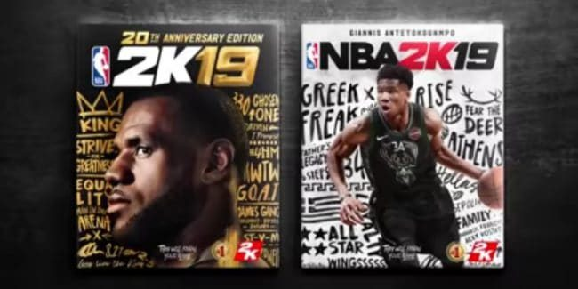 Both covers of NBA 2k19