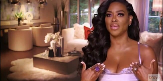 Kenya Moore in the confessional on Real Housewives of Atlanta