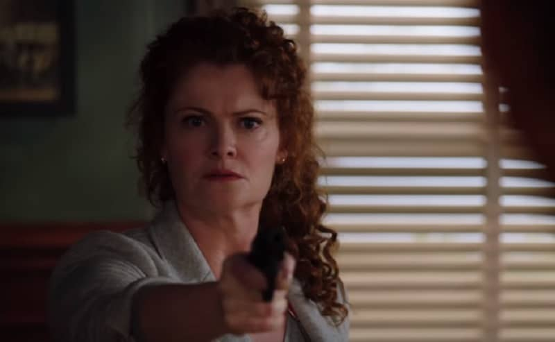 Actress Rebecca Wisocky on an episode of NCIS: New Orleans
