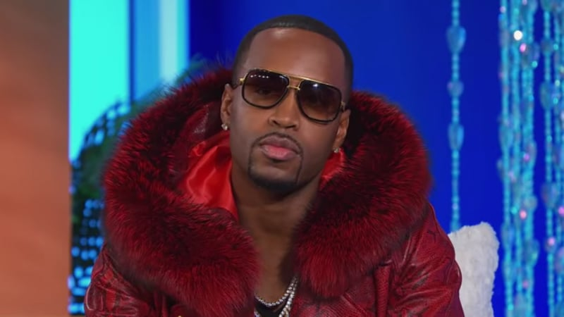 Safaree Samuels on stage at the Love & Hip Hop Hollywood reunion