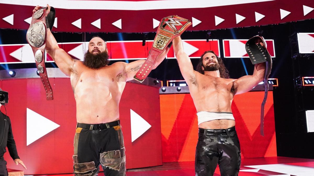 WWE Raw Tag Team Champions: Seth Rollins and Braun Strowman