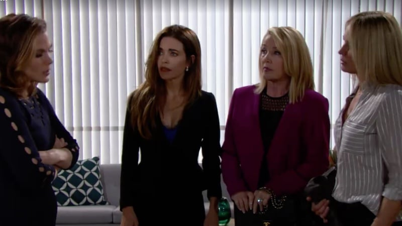 Phyllis, Victoria, Nikki and Sharon on The Young and the Restless