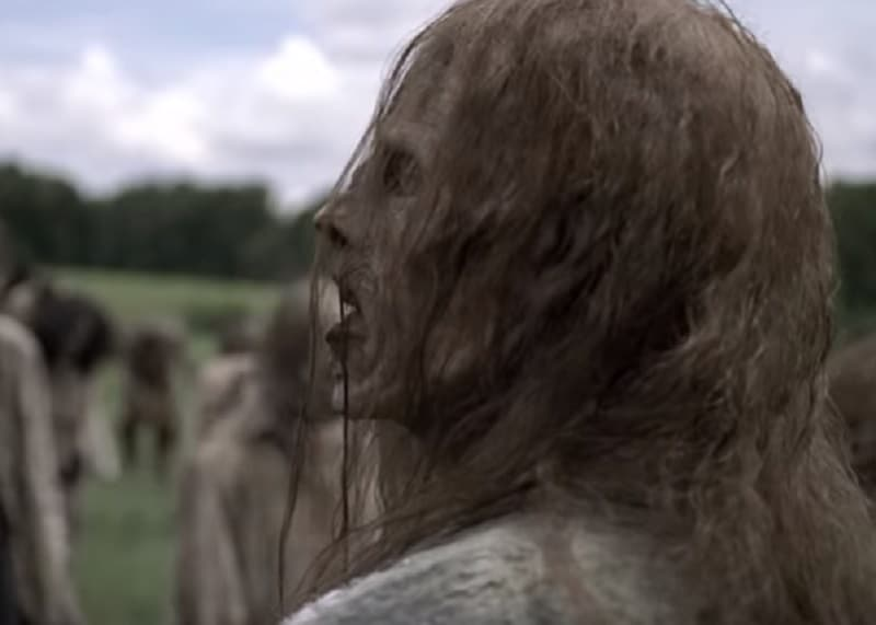 A member of the Whisperers on The Walking Dead