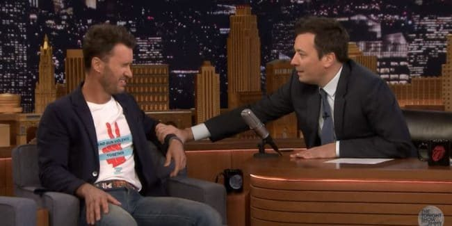 Toms shoes founder Blake Mycoskie breaks down while revealing record pledge to end gun violence