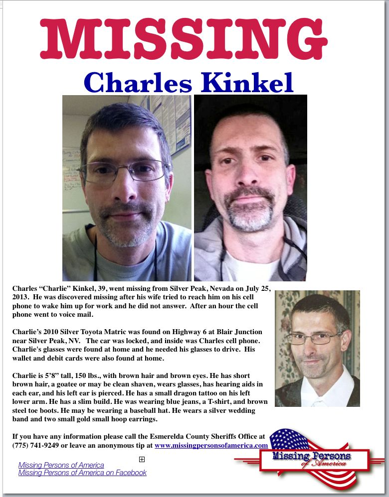 Charles Kinkel missing person poster