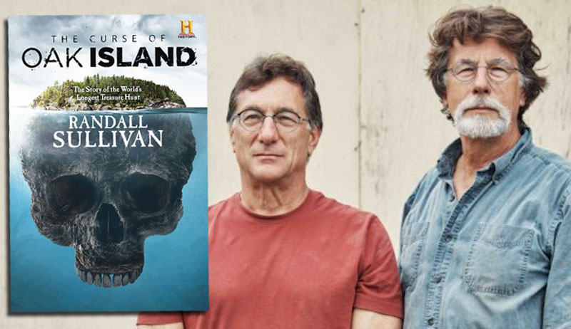 The Curse of Oak Island book and Rick and Marty Lagina