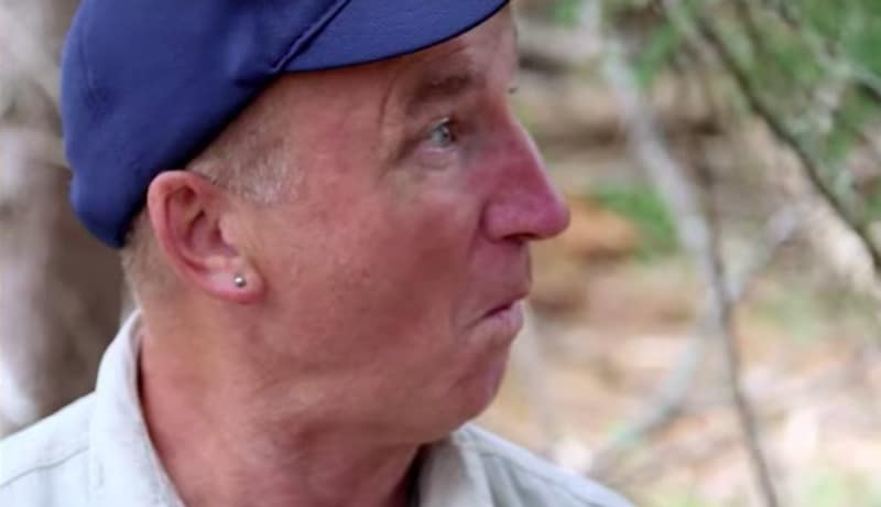 Gary Drayton having a 'bobby dazzler' moment on The Curse of Oak Island