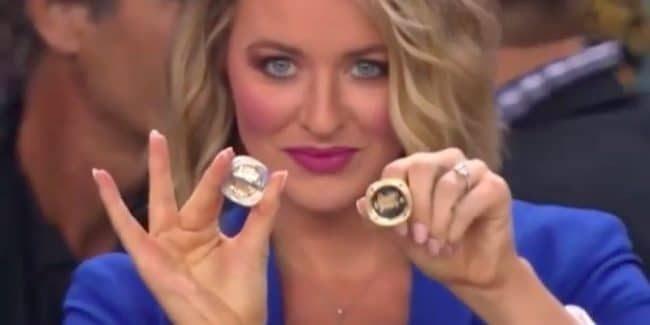 Kristen Ledlow wearing her engagement ring