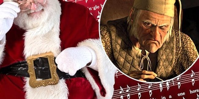 Santa and Scrooge