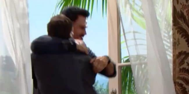 Bill and Ridge fighting on The Bold and the Beautiful
