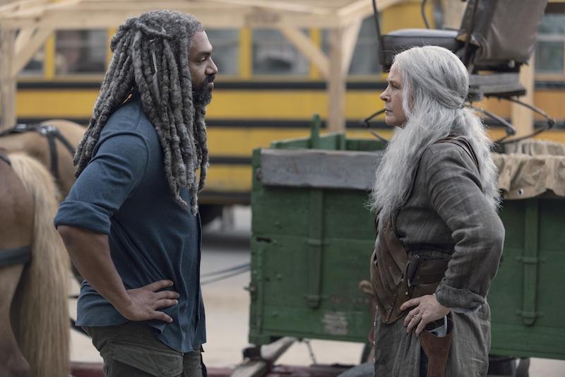 Khary Payton as Ezekiel, Melissa McBride as Carol Peletier- The Walking Dead _ Season 9, Episode 6 - Photo Credit: Gene Page/AMC