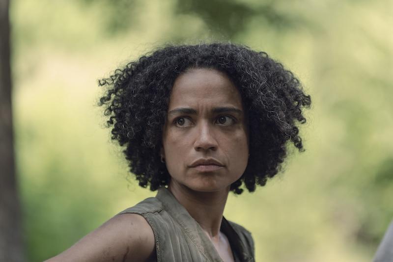 Lauren Ridloff as Connie- The Walking Dead _ Season 9, Episode 6 - Photo Credit: Gene Page/AMC