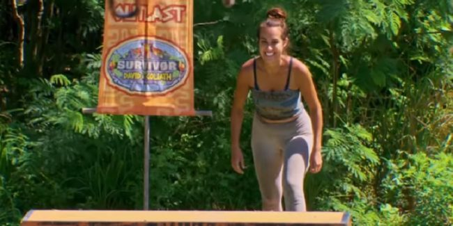 Angelina Keeley during Survivor 2018 finale