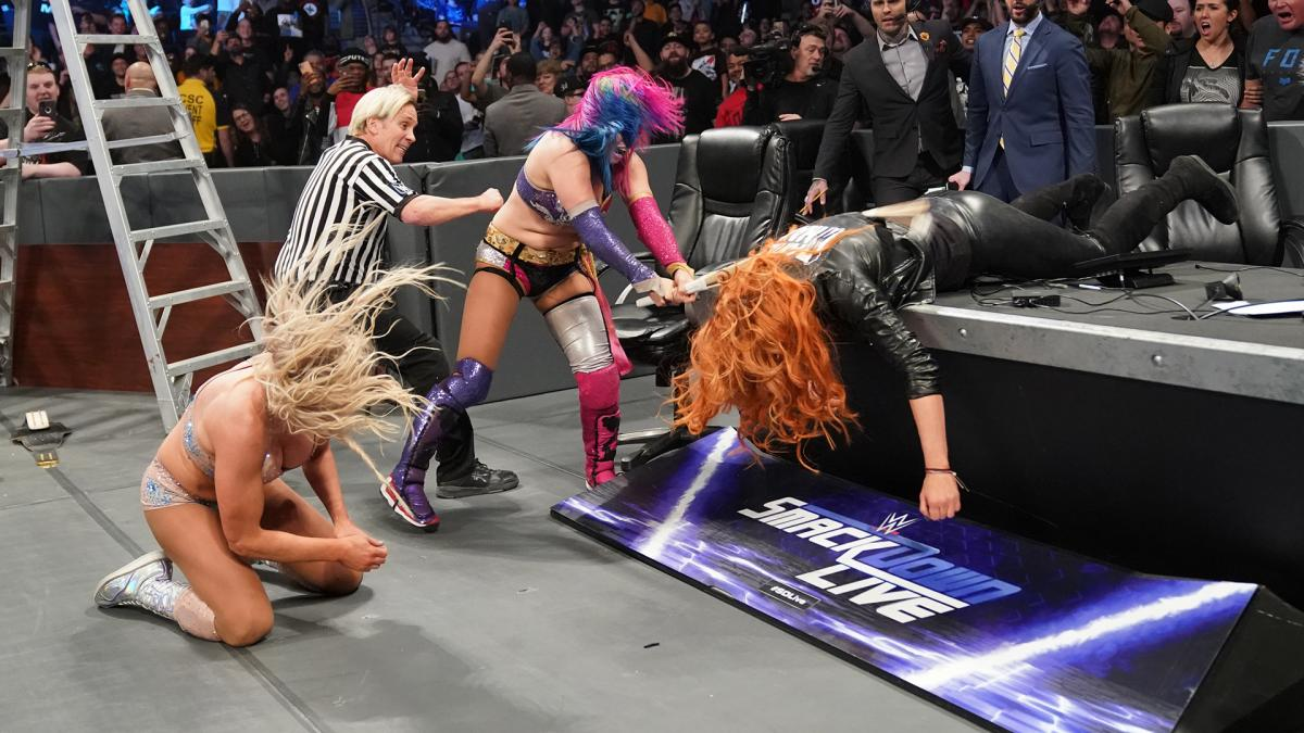 The women of WWE can get just as rough as the men
