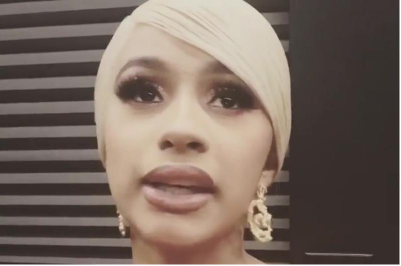 Cardi B on Instagram Live after Offset crashed her concert to apologize