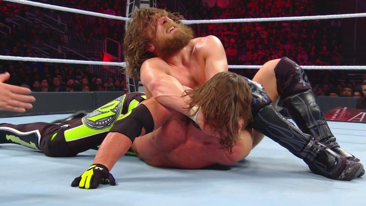Daniel Bryan had the upper hand on AJ Styles. Pic credit: WWE
