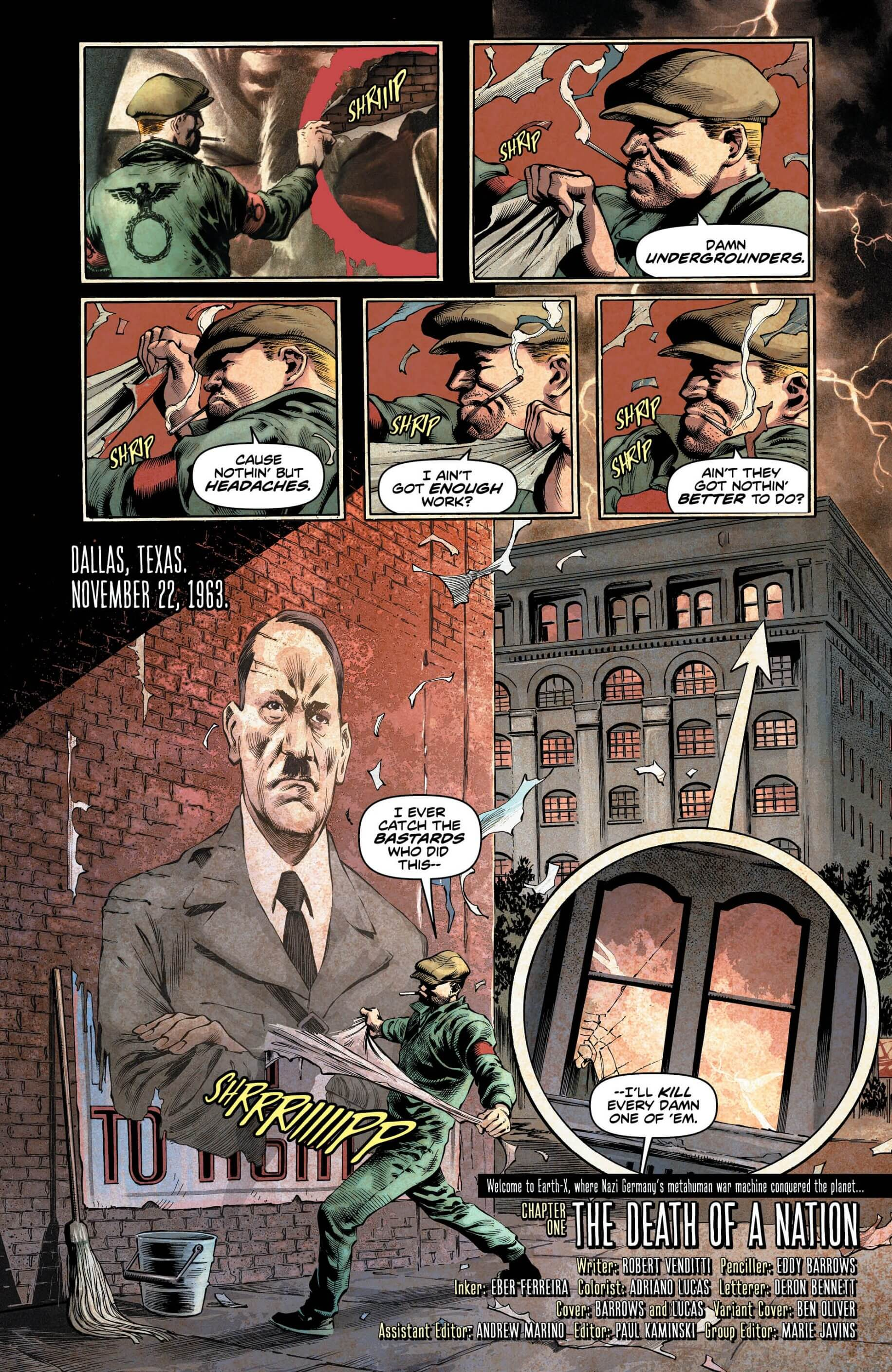 Preview Page - Freedom Fighters 1 Page 1 Lettered