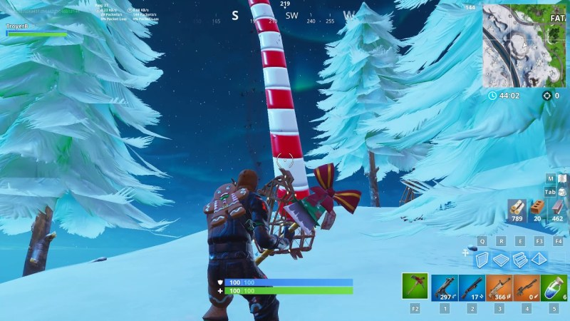 Where are the giant candy canes in Fortnite?