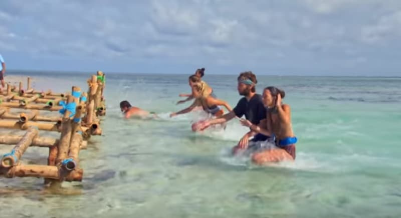Gabby and Christian compete on a new episode of Survivor