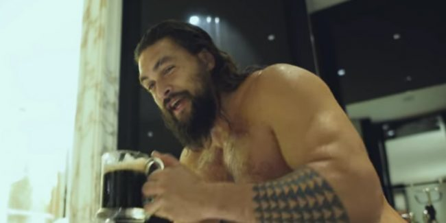 Jason Momoa is taking the cameras with him on his Aquaman tour. Pic credit: Jason Momoa/YouTube