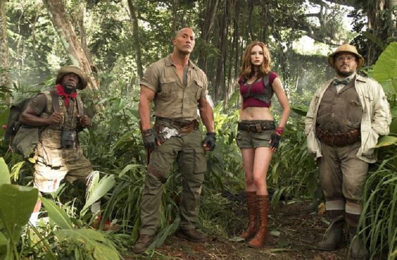 Jumanji cast Dwayne Johnson, Kevin Hart, Karen Gillan