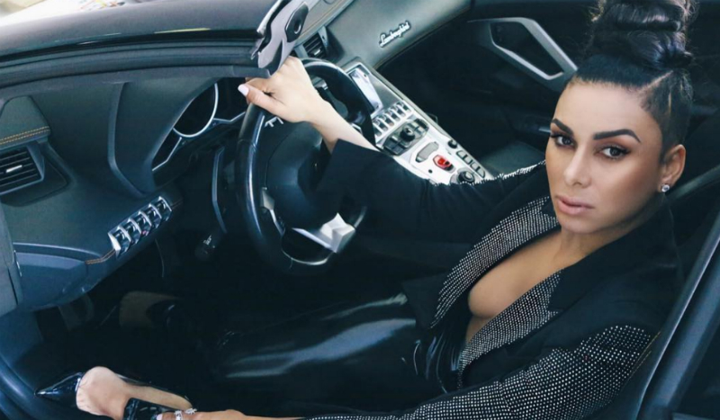 Laura Govan in the driver's seat in a photo shared to Instagram