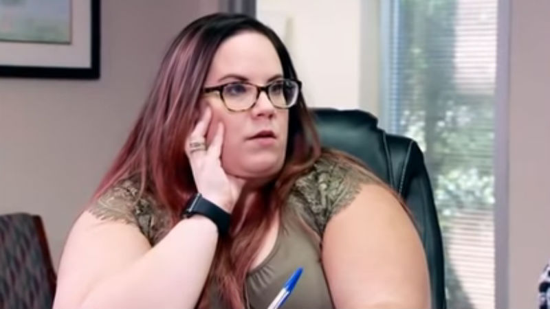 Whitney Thore at the adoption expert office on My Big Fat Fabulous Life season premiere